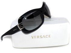 b029f7df0037 Versace Women s Sunglasses MOD.4136 GB1 11 2N Black Wrap Italy 64