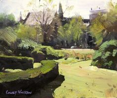 Colley Whisson Fitzroy Gardens, Melbourne 6x8 Oil, 2010