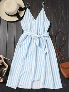SHARE & Get it FREE | Belted Striped Cami Dress - Charm MFor Fashion Lovers only:80,000+ Items • New Arrivals Daily Join Zaful: Get YOUR $50 NOW!