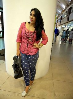 The Shopaholic Diaries - Indian Fashion, Shopping and Lifestyle Blog !: OOTD - Waiting For Winters - Lace And Polkas