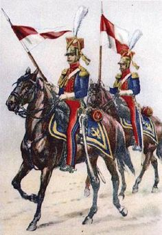 Soldiers from the 4th Uhlans Regiment (1813). Fig. B. Gembarzewski.