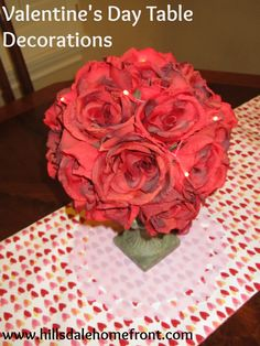 Decorate a table for Valentine's Day