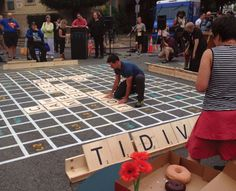 The City of Seattle, WA, USA hosted its first Street Scrabble Tournament in partnership with Fehr & Peers, Team Better Block, and Framework design firm during the ITE Annual Meeting and Exhibit in August 2014.