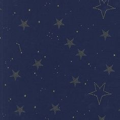 JUST IN! Sarah Jane, Magic, Lucky Stars in Navy Metallic CUT IN 1/2 YARD INCREMENTS (i.e qty 1 = 1/2 yard, qty 4 = 2 yards) Manufacturer: Michael Miller (md7194_navy) Designer: Sarah Jane Collection: