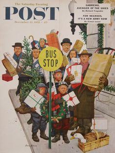 Vintage Christmas Cover...The Saturday Evening Post...by Norman Rockwell