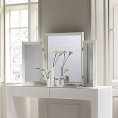 Carlton Glass Framed Dressing Table Mirror | The White Company