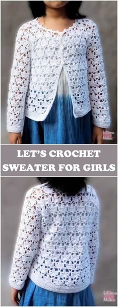 Crochet Sweater For Girls - Free Instructions[Video]