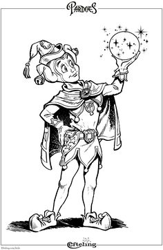 The Best Efteling - Pardoes coloring web page Coloring Pages To Print, Adult Coloring Pages, Coloring Pages For Kids, Kids Coloring, David The Gnome, Rainy Day Activities, Disney Cartoons, Digital Stamps, Art Sketchbook