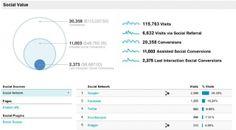 google analytics: social value presenation google+, facebook, twitter, StumbleUpon and Blogger