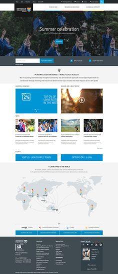 30 University and College Websites Inspiration - DesignYep Web Design Websites, Online Web Design, Web Design Quotes, Web Design Tips, Web Design Services, Web Design Company, Design Ideas, Website Design Layout, Web Layout