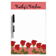 Red Roses Dry Erase Whiteboards http://www.zazzle.com/red_roses_dry_erase_whiteboards-256114087782707035?rf=238631258595245556