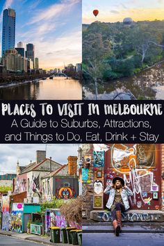 A big Melbourne travel guide that breaks all the best places to visit in Melbourne into suburbs, with different attractions streets, things to do, and places to eat/drink in each one. Cool Places To Visit, Places To Travel, Travel Destinations, Pacific Destinations, Melbourne Attractions, Australia Travel Guide, Australia Trip, Visit Australia, Travel Guides
