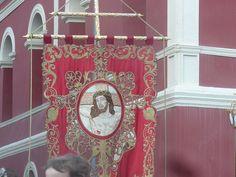 Estandarte del Cristo de la Sangre. Paso Encarnado Santos, Christ, Hand Crafts, Ideas