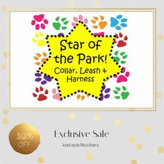 30% OFF on select products. Hurry, sale ending soon!  Check out our discounted products now: https://www.etsy.com/shop/katiesk9kollars?utm_source=Pinterest&utm_medium=Orangetwig_Marketing&utm_campaign=star