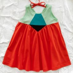 zozio maya dress - tomato - girls'