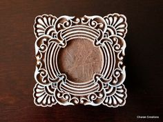I can put a picture in the middle of that one, like it's a frame. Wood Block Stamp Tjaps Indian Wood Stamp by charancreations