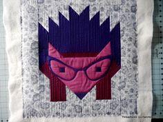 Hedgehog quilt with OMNI Threads.  CUTE!