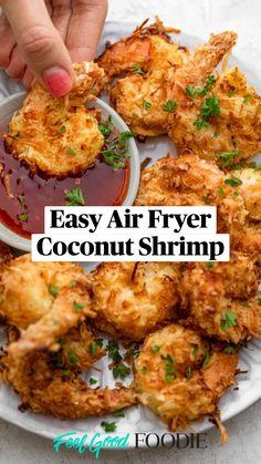 Coconut Shrimp Recipes, Salmon Recipes, Seafood Recipes, Appetizer Recipes, Cooking Recipes, Healthy Recipes, Chicken Recipes, Healthy Coconut Shrimp, Easy Recipes