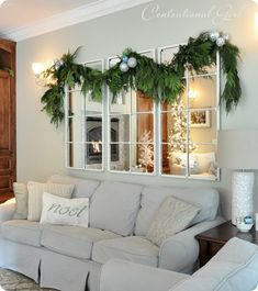 Mirror above couch para la mirror above couch 3 decor behind sofa design mirror couch wall . mirror above couch lighting delightful above couch decor Above Couch Decor, Behind Couch, Above The Couch, Above Window Decor, Room Wall Decor, Living Room Decor, Mirror Over Couch, Faux Window, Living Room Mirrors