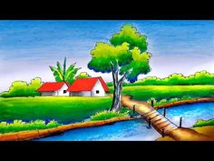 Hello Friends Welcome to Our Channel Friends Our Channel makes videos on different type of Art Media In this Video we show you Oil Pastel Color Media to make. Oil Pastel Paintings, Oil Pastel Art, Indian Art Paintings, Scenery Drawing For Kids, Oil Pastel Colours, Invitation Background, Poster Drawing, Basic Drawing, Drawings Of Friends