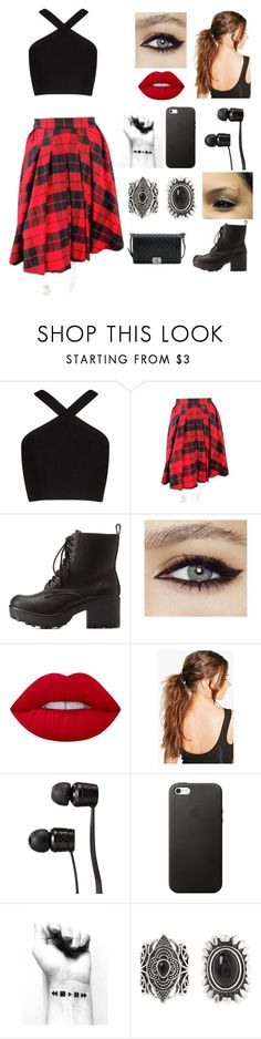 """Untitled #9"" by meloveyou91 ❤ liked on Polyvore featuring BCBGMAXAZRIA, D&G, Charlotte Russe, Lime Crime, Boohoo, Vans, New Look and Chanel"