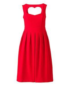 Lovedrobe Heart Back Skater Dress | Simply Be