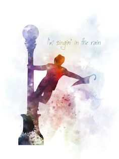 Singin' in the rain art print gift, film, movie, musical, wall art Disney Princess Quotes, Disney Quotes, Rain Quotes, Movie Quotes, Grey Quotes, Musical Theatre Quotes, Theatre Posters, Magical Quotes, Mom Quotes From Daughter