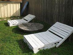 Como hacer una reposera de madera con palets