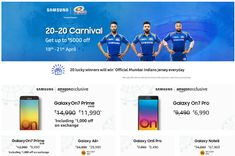 Samsung 20-20 Carnival Sale Offers on Amazon India [ Apr 18-21 2018 ]
