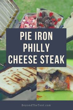 Pie Iron Recipes: Philly Cheese Steak Quesadilla – Beyond The Tent – Beyond the Tent – bushcraft camping Best Camping Meals, Camping Dishes, Camping Desserts, Camping Recipes, Family Camping, Camping Foods, Camping Ideas, Outdoor Camping, Backpacking Food