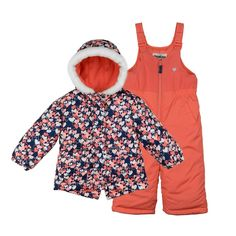 Toddler Girl OshKosh B'gosh® Heavyweight Jacket & Bib Snow Pants Set, Size: 4T, Pink
