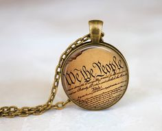 Constitution Necklace United States Constitutional by EmpireJune