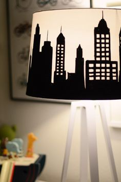DIY Painted Lampshade Tutorial from @merricksart | Find  supplies for this DIY lampshade at @joannstores