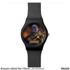 Avengers: Infinity War | Thanos & Infinity Stones Wrist Watch Avengers: Infinity War Thanos Watch  Buy it now at https://www.zazzle.com/z/om1st?rf=238498825812378580  #avengers #infinitywar #thanos #dccomics #superheroes #watch #zazzleproducts #zazzlewatch