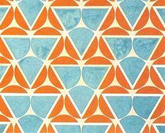 Varvara Stepanova | Circle points - teal and orange, 1923