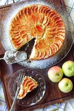 Omena-juustokakku - Suklaapossu Finnish Recipes, No Bake Treats, Something Sweet, Sweet And Salty, Sweet Desserts, Cheesecake Recipes, Cheesecakes, No Bake Cake, Apple Pie