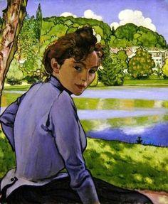 Louis Anquetin Femme au bord d'un lac