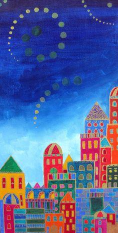 Dreams Above Jerusalem Painting by Dawnstarstudios