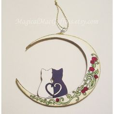 Luna and Artemis Sailor Moon Anime Manga Polymer Clay Cute Cat Stud... ❤ liked on Polyvore featuring jewelry, earrings, hand crafted jewelry, clay earrings, cat jewelry, cat stud earrings and animal earrings