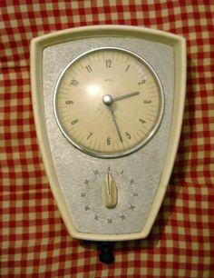 RARE Vintage Smiths Duet kitchen wall clock and timer c.1960's working order | eBay