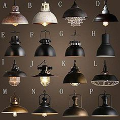 Vintage Industrial Lighting, Industrial Light Fixtures, Kitchen Lighting Fixtures, Rustic Lighting, Industrial Style, Lighting Ideas, Pendant Lighting, Club Lighting, Industrial Chandelier