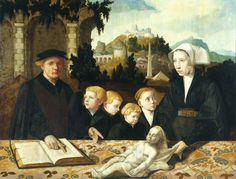 1535 Monogrammist of Valenciennes - Ivo Fritema and his family