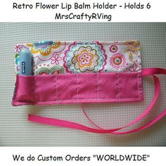 Lip Balm Holder Chapstick Case Teen Party Favor by MrsCraftyRVing, $3.50 Coupon Code Sale - FULLER30 for 30% off MIN Purchase $25.00) - for INVENTORY items ONLY.  For everyone else including Custom Orders can use Coupon Code CHRISTMAS2013 for 10% off any amount