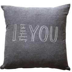 I Adore You Cushion Cover//