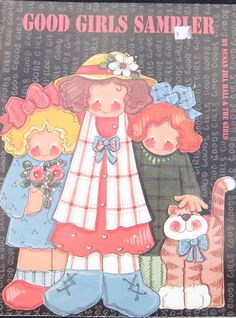 Good Girls Sampler Tole Painting Book Susan Jill by TheHowlingHag