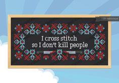 I cross stitch Quote  PDF cross stich pattern
