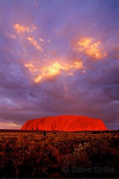 Uluru Sunset, Australia, also known as Ayer's Rock, turns brilliant Red at Sunset. Australia Map, Outback Australia, Queensland Australia, Beautiful Sunset, Beautiful World, Beautiful Places, Places To Travel, Places To See, The Places Youll Go