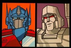 Transformers g1 #optimus prime & #megatron set of 2 hand #painted pop art paintin,  View more on the LINK: 	http://www.zeppy.io/product/gb/2/292011596772/