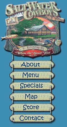 Saltwater Cowboys Restaurant - St. Augustine, Florida - wonderful food, atmosphere ...located over the  Intercoastal Waterway Marsh ....since 1964 !!