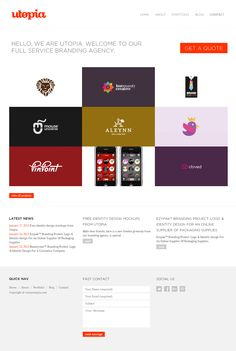 http://www.weareutopia.com   Beautiful examples of full branding packages. It is…